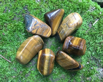 "Tumbled Tiger's Eye stones crystals ~ 1"" - 2"""