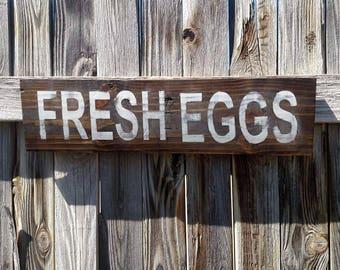 Fresh Eggs Reclaimed Wood Sign