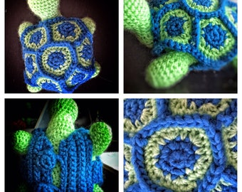 Handmade Crochet Amigurumi Turtle