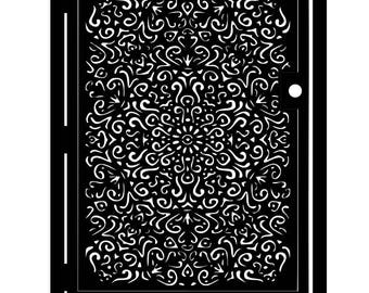 Artistic Mandala Gate - Mandala Art Panel - Floral Entryway Gate - Driveway Gate - Embellished Gate - Decorative Metal Wall Panel Art - Gate