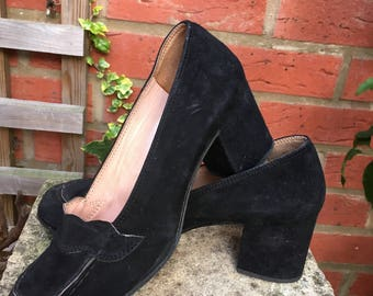 Black Suede Shoes by Castea Made in Italy - size 36
