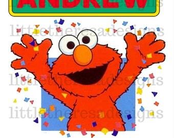 Elmo Birthday Boy and Family Transfers,Digital Iron On,Digital Transfer,DIY