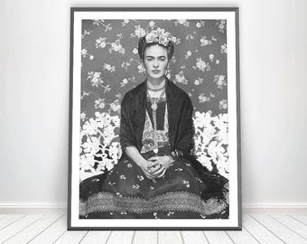 Frida Kahlo Print * Frida Kahlo Poster Scandinavian Print Scandinavian Decor Frida Kahlo Wall Art Frida Art Deco Mexican Decor Mexican Art