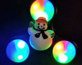 Frosty The Snowman Custom Christmas LED Light Up Fidget Spinner & Light up snowman | Etsy azcodes.com