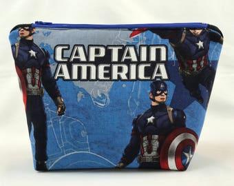 Captain America Inspired Makeup Bag