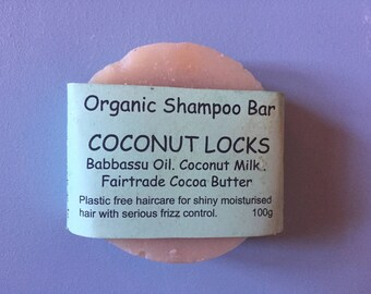 COCONUT LOCKS - Shampoo Bar, Coconut Shampoo, Coconut Oil, Babussu Oil, Coconut Milk, Organic Shampoo, Natural Shampoo, Hydrating Shampoo