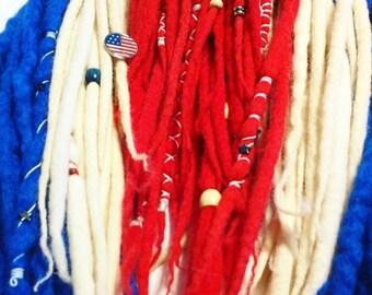 Merica DE Wool Dreadlock Full Set of 72 FREE SHIPPING