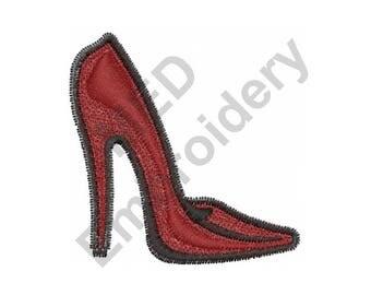 High Heel Shoe - Machine Embroidery Design, Shoe - Machine Embroidery Design
