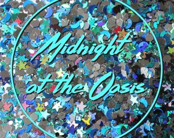 """Chunky Festival Face & Body Glitter - """"Midnight at the Oasis"""" mix"""