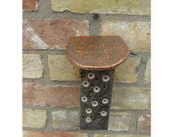 Oak,bamboo,round copper roof, Bee,insect home