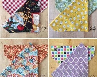 Handmade reversible collar scarf -- patterns 25 - 28