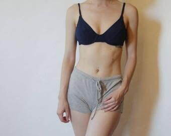 90s Navy Blue Padded Bikini Top XS S