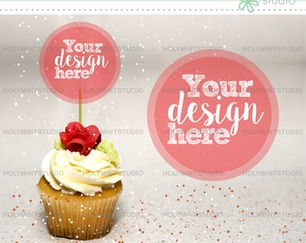 Cupcake Mockup, Food Mockup, Stock Photos, Party Styled Stock Photography, Food Background, Party Mockups, Styled Stock Photography, Mockup