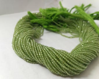 AAA 100% Natural Micro Peridot Faceted Rondelle Beads 2-2.5mm, Tiny Peridot Beads, Green Beads, AAA Peridot Beads, Neno Bead, Wholesale bead