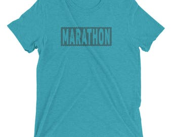 Men's Marathon Triblend T-Shirt - Run Marathon - 26.2-Miles Shirt - Sunrise Running Company
