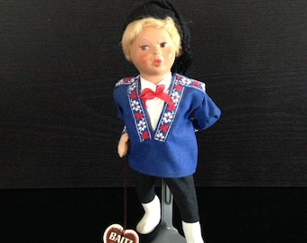 Vintage Baitz Whistling Doll, Made in Austria