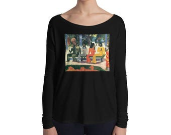 Paul Gauguin, The Market - Ladies' Long Sleeve Tee