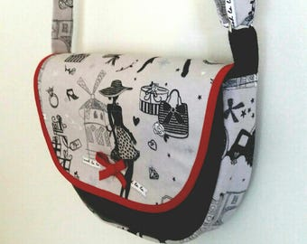 bag flap with adjustable shoulder strap