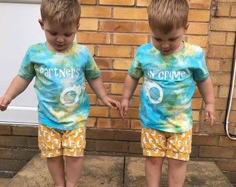 Matching Children's 'Partner in Crime' T-shirt
