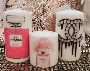 Designer Pink bling set.