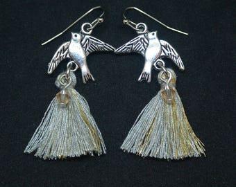 Tassel Bird Earrings