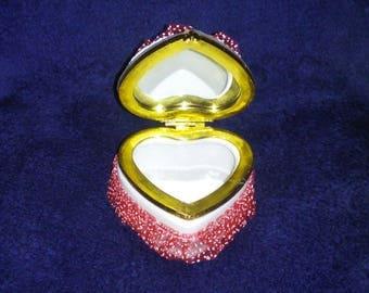 Beautiful heart-shaped box.