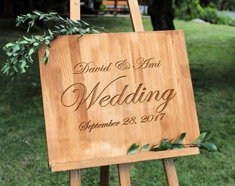 Wedding Welcome Sign - Wedding Signs - Wood Wedding Sign - Wooden Wedding Signs - Wood - Rustic Wood Wedding Sign