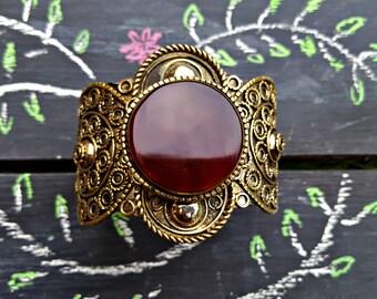Aqeeq Bracelet/ Adjustable aqiq bracelet/ bohemian tribal jewelry/ afghan jewelry/ kuchi bracelet