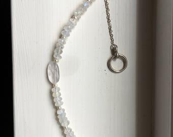 Rose Quartz and Pearl Beaded Bracelet