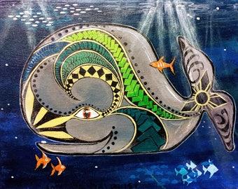 Filipino Visayana Tribal Tattoo Whale