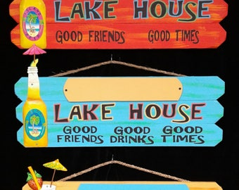 Personalized LAKE HOUSE sign made for outdoors personalized FREE