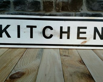 Kitchen 2.5 ft. Wooden Sign Pantry Kitchen Decor Kitchen Sign Distressed Sign Rustic Wooden Sign Rustic Wall Decor Wood Sign