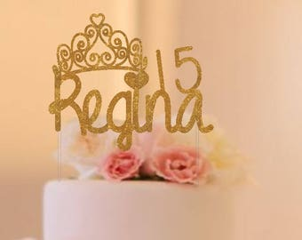 Mis Quince Cake Topper, Quinceanera cake topper, mis 15 topper silver, gold,pink