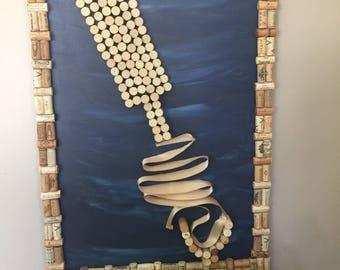 Cork wine decor