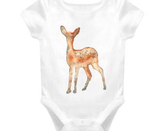 Baby Dear Baby One-piece Bodysuit For New Baby Gift, Infant Onesie For Boy & Girl Great Gift For Baby Shower, Animal Cartoon