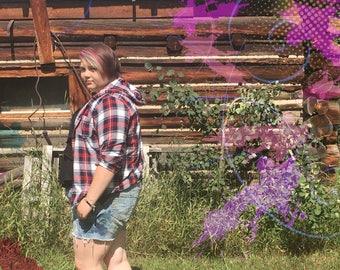 Punk'd Summer Reverse Tie-Dye Paint Spatter Shorts