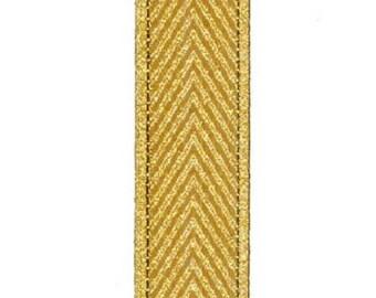 Width 30 mm herringbone gold tone trim