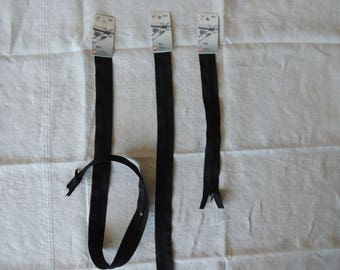 Length 40 cm black invisible zipper