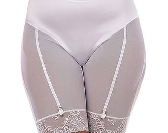 Beautiful Classic Style Long Legged Anti-Chafe Thigh Comfort Delicate Lace and Satin Panties from Bloomin'Sexy UK Size 30