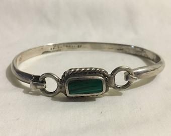 Sterling and Malachite bracelet