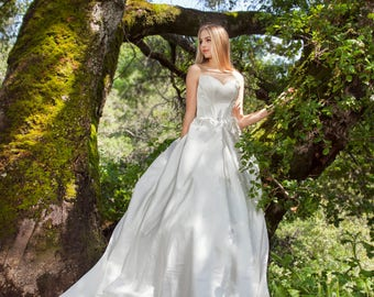 Lilium - Selena Huan Matte Laminated Satin Strapless Ball Gown