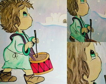 Little drummer boy painting
