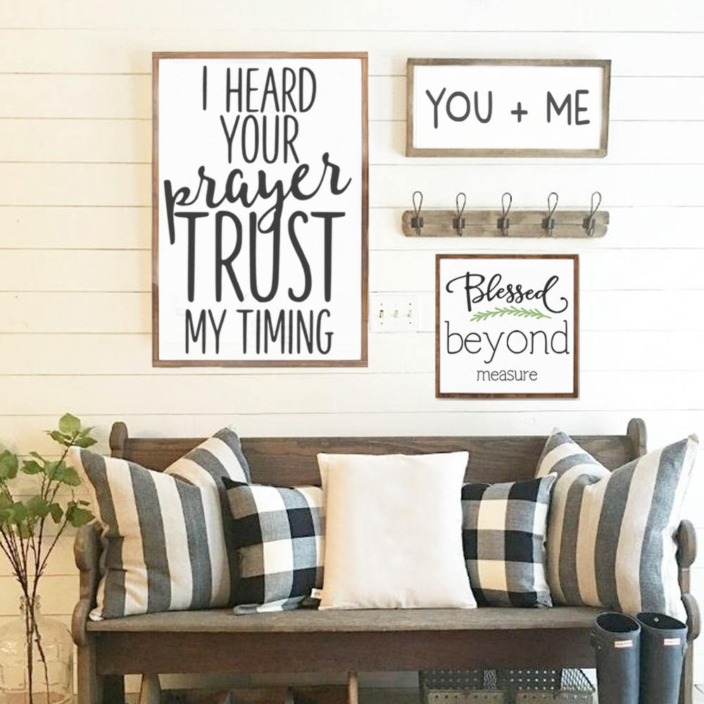 Blessed Beyond Measure Wood Sign   Home Decor   Scripture Sign   Christian    Wedding Gift