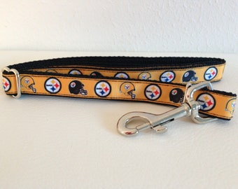 Small Adjustable Steelers Dog Leash, Steelers Leash, Cute Dog Leash, Small Dog Leash, Dog Leash