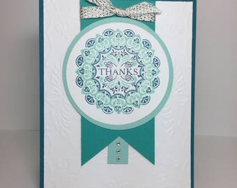 Beautiful Handmade Thank You Card-featuring Stampin Up! Products