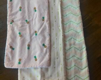 Girls Burp Cloth Gift Set