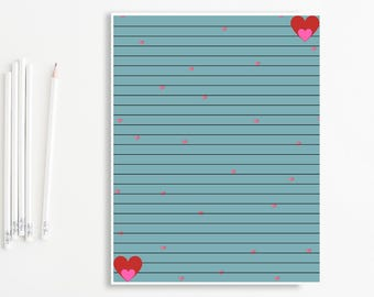 Lined stationery  Etsy