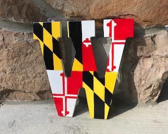 Maryland Flag Letter