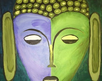 Sea Buddha Original Folk Art Painting