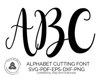 SVG Fonts, Hand Lettered SVG, Wedding Font SVG Fonts for Cricut Svg Bundles, Cursive Font Svg, Cameo Fonts for Silhouette, Script Svg Font